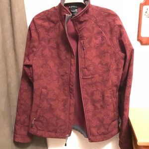 Burgundy Pattern NorthFace Apex Jacket
